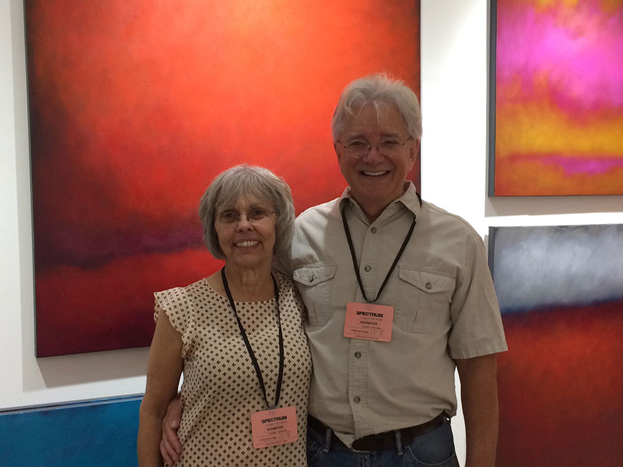 Artist Dave Eldreth with his wife Faye.